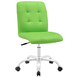 Prim Armless Mid Back Office Chair (Bright Green)