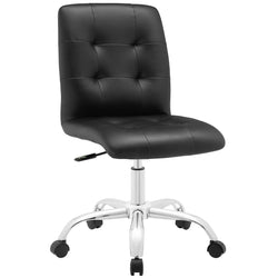 Prim Armless Mid Back Office Chair (Black)