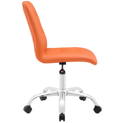 Prim Armless Mid Back Office Chair (Orange)