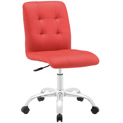 Prim Armless Mid Back Office Chair (Red)