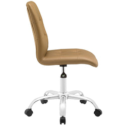 Prim Armless Mid Back Office Chair (Tan)