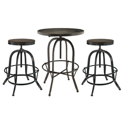 Gather 3 Piece Dining Set (Black)