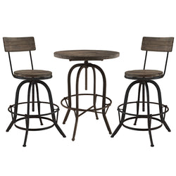 Gather 3 Piece Dining Set (Brown)