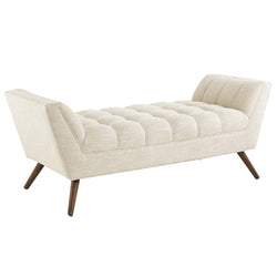 Response Medium Upholstered Fabric Bench (Beige)