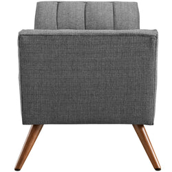 Response Medium Upholstered Fabric Bench (Gray)