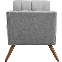 Response Medium Upholstered Fabric Bench (Expectation Gray)