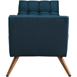 Response Upholstered Fabric Bench (Azure)