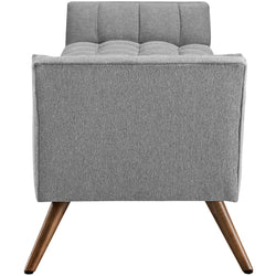 Response Upholstered Fabric Bench (Expectation Gray)