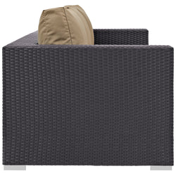 Convene Outdoor Patio Sofa (Espresso Mocha)