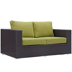 Convene Outdoor Patio Loveseat (Espresso Peridot)