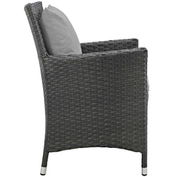 Sojourn Dining Outdoor Patio Sunbrella® Armchair (Canvas Gray)