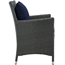Sojourn Dining Outdoor Patio Sunbrella® Armchair (Canvas Navy)