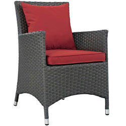 Sojourn Dining Outdoor Patio Sunbrella® Armchair (Canvas Red)