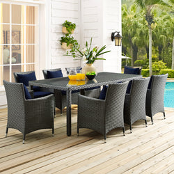 "Sojourn 82"" Outdoor Patio Dining Table (Chocolate)"