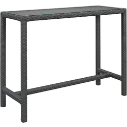 Sojourn Large Outdoor Patio Bar Table (Chocolate)