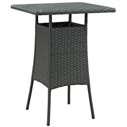 Sojourn Small Outdoor Patio Bar Table (Chocolate)