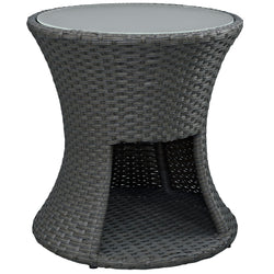 Sojourn Round Outdoor Patio Side Table (Chocolate)