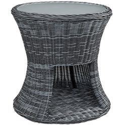 Summon Round Outdoor Patio Side Table (Gray)