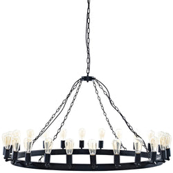 "Teleport 52"" Chandelier (Brown)"