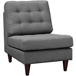 Empress Upholstered Fabric Lounge Chair (Gray)