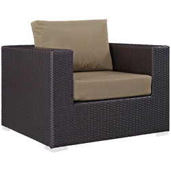 Convene 9 Piece Outdoor Patio Sectional Set (Espresso Mocha)