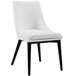 Viscount Vinyl Dining Chair (White)