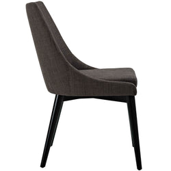 Viscount Fabric Dining Chair (Brown)