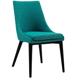 Viscount Fabric Dining Chair (Teal)