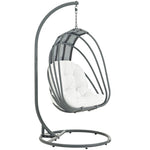Whisk Outdoor Patio  Swing Chair With Stand (White)
