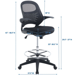 Stealth Drafting Chair (Black)