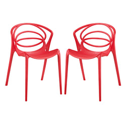 Locus Dining Set Set of 2 (Red)
