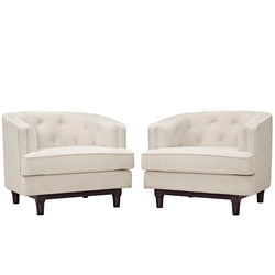 Coast Armchairs Set of 2 (Beige)