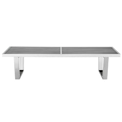 Sauna 5' Stainless Steel Bench (Silver)