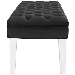 Valet Velvet Bench (Black)