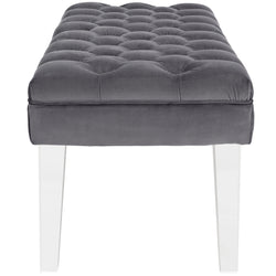 Valet Velvet Bench (Gray)