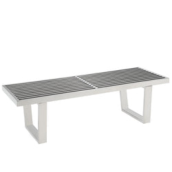 Sauna 4' Stainless Steel Bench (Silver)