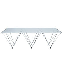 Prism Rectangle Coffee Table (Clear)