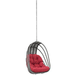 Whisk Outdoor Patio Swing Chair Without Stand (Red)