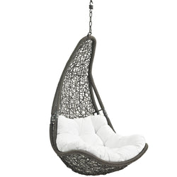 Abate Outdoor Patio Swing Chair Without Stand (Gray White)