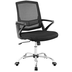 Proceed Mid Back Upholstered Fabric Office Chair (Black)