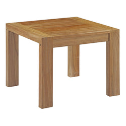 Upland Outdoor Patio Wood Side Table (Natural)