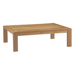Upland Outdoor Patio Wood Coffee Table (Natural)