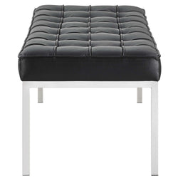 Loft Leather Bench (Black)