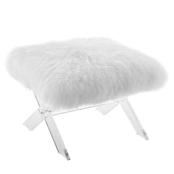 Swift Sheepskin Bench (Clear White)