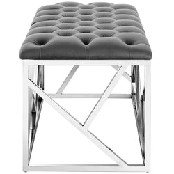 Intersperse Bench (Silver Gray)