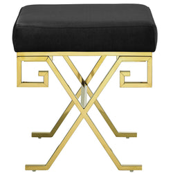 Twist Velvet Bench (Gold Black)