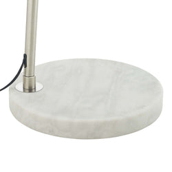 Sunflower Round Marble Base Floor Lamp (White)