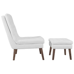 Modify Upholstered Lounge Chair and Ottoman (White)