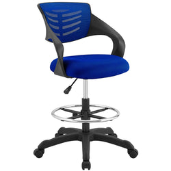 Thrive Mesh Drafting Chair (Blue)