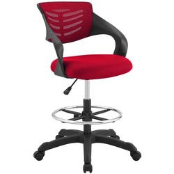 Thrive Mesh Drafting Chair (Red)